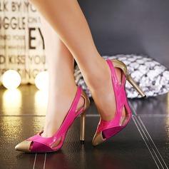 Femmes Similicuir Talon stiletto Escarpins avec Semelle chaussures