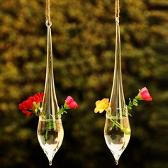 Hanging Water Drop Shaped Glass Vase