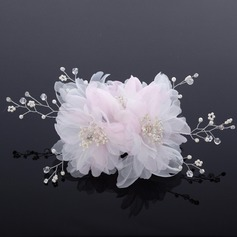 Beautiful Rhinestone/Pearl/Chiffon Hair Flowers