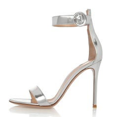 Women's Patent Leather Stiletto Heel Sandals shoes
