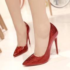 Femmes Cuir verni Talon stiletto Escarpins avec Boucle chaussures