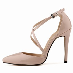 Donna Pelle verniciata Tacco a spillo Stiletto Punta chiusa scarpe