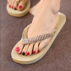 Femmes Tissu Talon plat Plateforme Tongs Chaussons avec Une fleur chaussures