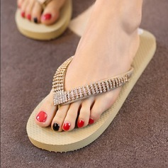 Women's Cloth Flat Heel Platform Flip-Flops Slippers With Flower shoes