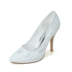 Women's Lace Stiletto Heel Closed Toe Pumps