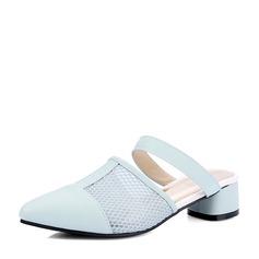 Femmes Similicuir Talon compensé Sandales Chaussures plates Bout fermé avec Ouvertes chaussures