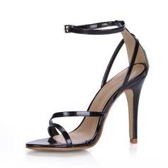 Pelle verniciata Tacco a spillo Sandalo con Fibbia scarpe