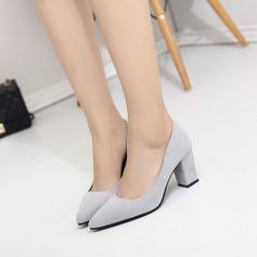 Dla kobiet Zamsz Obcas Slupek Czólenka Zakryte Palce obuwie