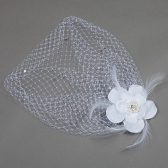 Romantic Feather/Satin/Net Fascinators