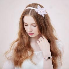 Beautiful Imitation Pearls/Silk Flower Headbands
