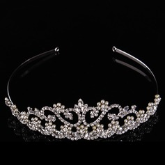 Beautiful Rhinestone/Alloy/Imitation Pearls Tiaras