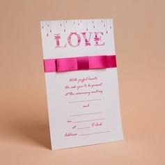 Classic Style Flache Karte Invitation Cards mit Bögen/Bänder (Satz Von 50)