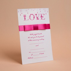 klassisk Stil Flat Card Invitation Cards med Buer/Bånd (Sett Av 50)