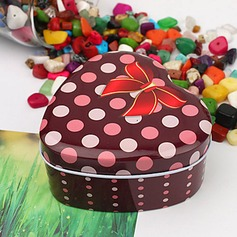 Polka Dots Pattern Heart-shaped Favor Tin (Set of 12)