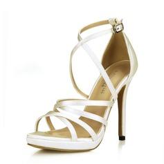Kvinnor Satäng Stilettklack Plattform Sandaler