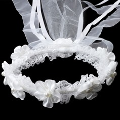 Lovely Rhinestone/Imitation Pearls/Lace Flower Girl's Headwear
