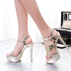 Women's Sparkling Glitter Stiletto Heel Sandals Flats With Sequin Buckle shoes