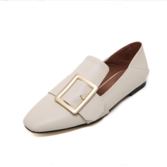 Women's Leatherette Flat Heel Flats Closed Toe shoes
