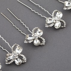 Beautiful Rhinestone/Alloy Hairpins(Set of 6)