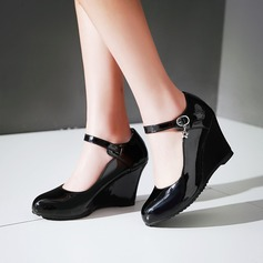 Women's Leatherette Wedge Heel Wedges shoes