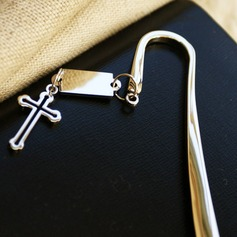 Cross Design Stainless Steel Bookmarks With Pendant