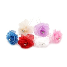 Beautiful Alloy/Artificial Silk Hairpins