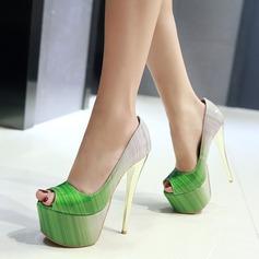 Femmes Cuir verni Talon stiletto Escarpins Plateforme avec Autres chaussures