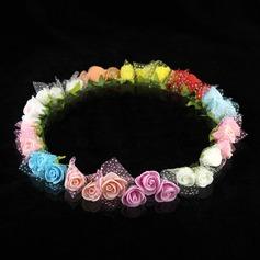 Lovely Paper Flower Wedding Flower Girl Wreath