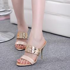 Femmes Pailletes scintillantes Talon stiletto Sandales Escarpins Escarpins avec Paillette chaussures