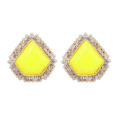 Unique Alloy Resin With Rhinestone Ladies' Fashion Earrings