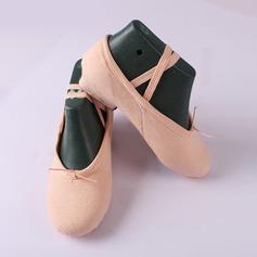 Frauen Leinwand Flache Schuhe Ballett Tanzschuhe