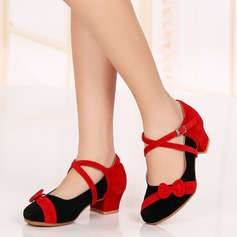 Kids' Suede Heels Latin Dance Shoes