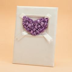 Lilac Rose Petals Guestbook