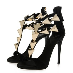 Suede Stiletto Heel Sandals shoes