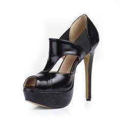Koženka Jehlový podpatek Sandály Platforma Peep Toe obuv