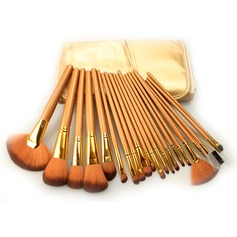 21Pcs Artificial Fibre Professional Makeup Brush Set With Gold Pouch #CB2102