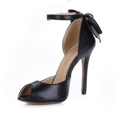 Similpelle Tacco a spillo Sandalo Stiletto Punta aperta con Archetto Fibbia scarpe