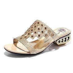Glitter scintillanti Tacco spesso Sandalo Stiletto con Strass scarpe