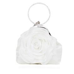 Elegant Silke med Blomst Wristletter/Brude Pung