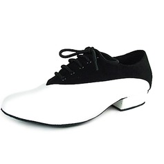 Men's Real Leather Velvet Flats Modern Ballroom Dance Shoes