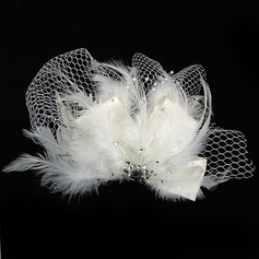 Glamourous Rhinestone/Feather/Tulle Fascinators