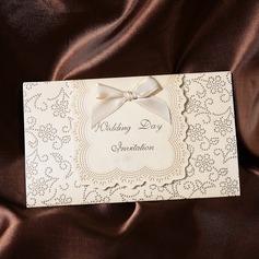 Klasický styl Skládané Invitation Cards S Saténové stuhy