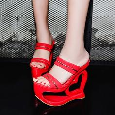 Women's Suede Wedge Heel Sandals Platform Wedges Peep Toe Slippers shoes