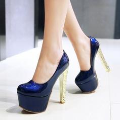 Femmes Similicuir Talon stiletto Escarpins Plateforme avec Pailletes scintillantes chaussures