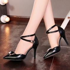 Femmes Similicuir Talon stiletto Sandales Escarpins Bout fermé avec Boucle Autres chaussures
