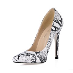 Similpelle Tacco a spillo Stiletto Punta chiusa con Animale Stampa scarpe