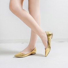 Women's Leatherette Flat Heel Flats With Animal Print Jewelry Heel shoes