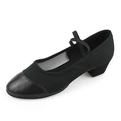 Women's Canvas Leatherette Heels Practice Dance Shoes