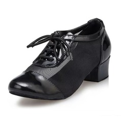 Women's Real Leather Flats Practice Dance Shoes