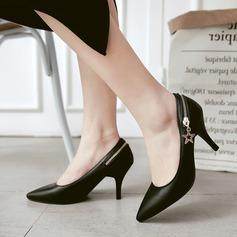 Dla kobiet PU Obcas Stiletto Czólenka Zakryte Palce Z Zamek błyskawiczny obuwie
